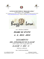 5H - Liceo scientifico Boggio Lera