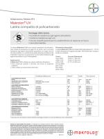 Makrolon® UV Lastra compatta di policarbonato
