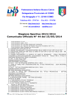 15/05/2014 - Comunicato ufficiale N.37