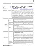 aiuto alla crescita economica delle imprese (ace)