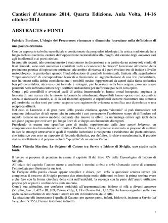 Abstrat e fonti - Università degli studi di Pavia
