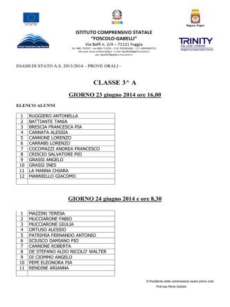 Calendario prove orali a.s. 2013-2014