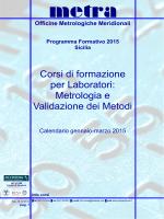 Corsi 2015-1 ediz Sicilia - Metra è Centro di taratura accreditato LAT