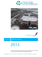 Rapporto annuale 2013(3.7 - benvenuti al Centro Depurazione