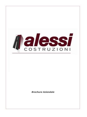 Brochure Aziendale - Costruzioni Alessi