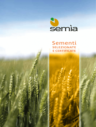 catalogo semia 2014 - Sementi selezionate e certificate