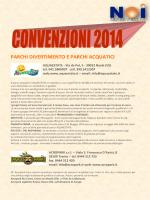 Convenzioni 2014 - Circolo Noi Vigasio