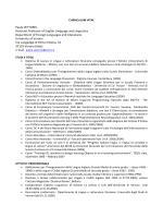 Curriculum Vitae (pdf, it, 157 KB, 9/25/14)
