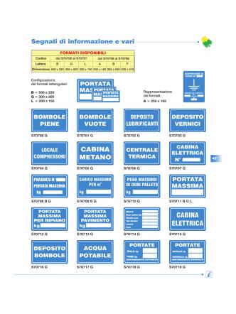cartelli informazioni e vari