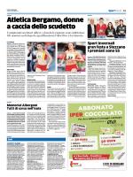 Atletica Bergamo, donne a caccia dello scudetto