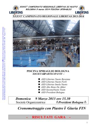2^ Prova Campionato Regionale Libertas - FIN