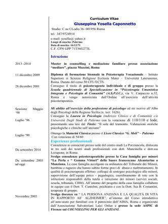 Curriculum Yosella Caponnetto