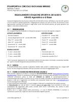 regolamento 2014/15 - POLISPORTIVA CIRCOLO GIOVANILE