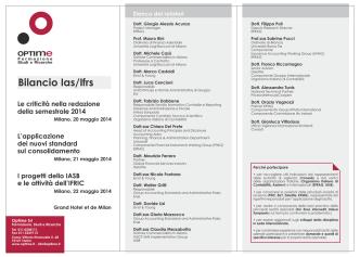 Bilancio Ias/Ifrs - Optime: Corsi Formazione Manageriale
