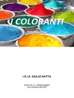 """i coloranti - isis """"giulio natta"""""""