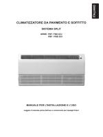 CLIMATIZZATORE DA PAVIMENTO E SOFFITTO