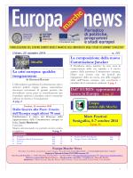 EUROPA NEWS n.151 del 29 / 09 / 2014