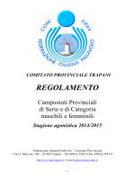 REGOLAMENTO - FIPAV TRAPANI