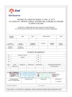elenco elaborati progetto linea mt aerea a 15kv e ptp