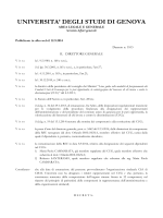 D.R. n. 1103 del 12.9.2014 - Università degli Studi di Genova
