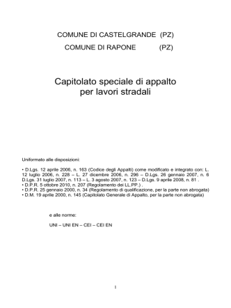 C.S.A Strada Rapone-Toppo