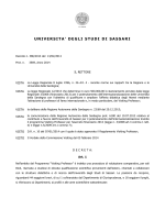 Bando 2014 - Università degli Studi di Sassari