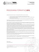 PROGRAMMA FORMATIVO 2015 - Dipartimento di Architettura