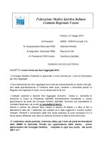 Corso Soci Aggregati 2014 - FMSI Comitato Regionale Veneto