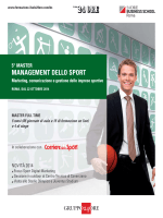 MANAGEMENT DELLO SPORT