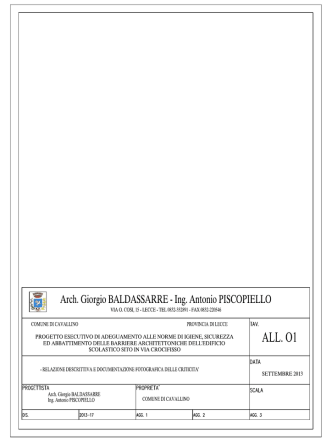 all.01 - relazione descrittiva e documentazione fotografica delle