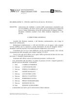 OGGETTO: Ammissione dei candidati e nomina della commissione