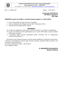 "LICEO SCIENTIFICO STATALE ""Giovanni Marinelli"" Prot. n° 3803"