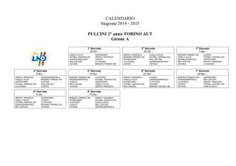 Calendari Pulcini 2° anno