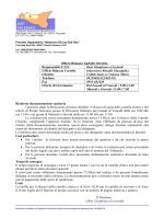 Responsabile F.I.O. Dott. Gianfranco Licciardi Ufficio