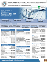 Via C. Mondino, 2 27100 Pavia Centralino 0382 3801 Fax 0382