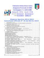 Comunicato ufficiale N.26