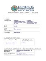 proposta di istituzione - Università degli Studi di Bari