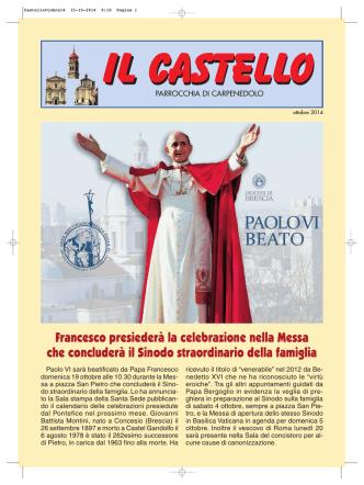 Bollettino ottobre 2014 - Parrocchia CARPENEDOLO