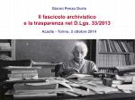 Slides titolario e fascicol- Dr. Gianni Penzo Doria