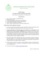 Call for papers PONTIFICIA UNIVERSITÀ DELLA SANTA CROCE