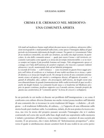 Crema e il Cremasco nel Medioevo: una comunità aperta