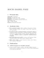 ROCIO ISABEL PAEZ - Dipartimento di Matematica