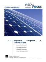 N. 11 Risparmio energetico e comunicazione