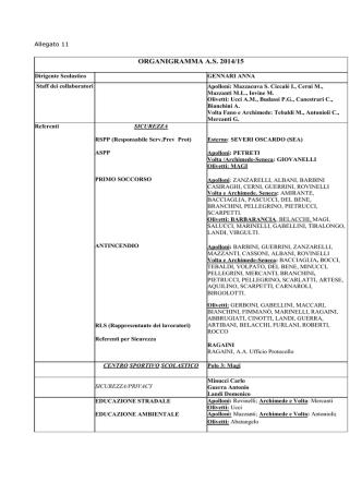 Allegato 11 Organigramma - Istituto istruzione superiore Polo 3