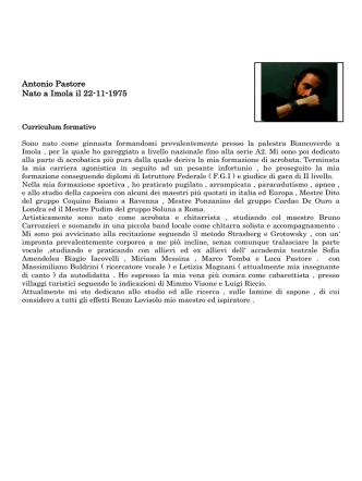 Antonio Pastore - Centro Yoga Thymos