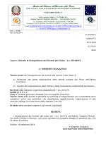 Assegnazione docenti alle classi - decreto