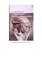 RITORNO AL MONDO NUOVO - Aldous Huxley