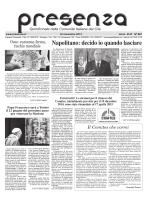 Scarica Presenza Nº 881, 16 novembre 2014