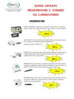 SUPER OFFERTE MICROMOTORI E TURBINE DA LABORATORIO