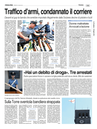 bito di droga». Tre arrestati - Ordine degli Avvocati di Milano
